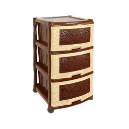 Комод 3х-секционный с узором «Ажур», цвет коричневый