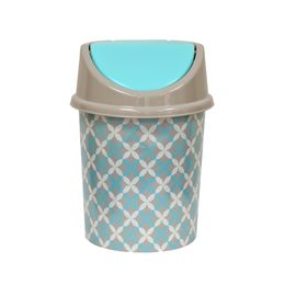 Ведро для мусора с подвижной крышкой 14л с декором «Сканди»