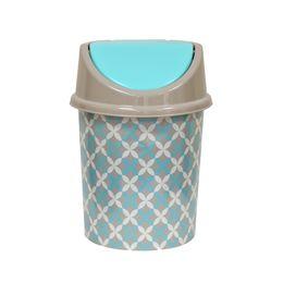 Ведро для мусора с подвижной крышкой 8л с декором «Сканди»