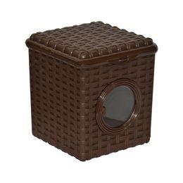 Контейнер для мелочей «Ротанг» 3л с иллюминатором, цвет коричневый