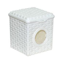 Контейнер для мелочей «Ротанг» 3л с иллюминатором, цвет белый