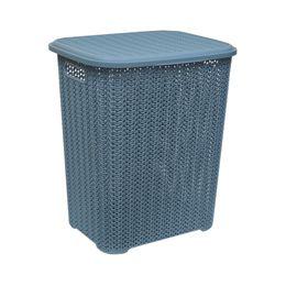 Корзина для белья «Вязь» 40л, цвет голубая норка